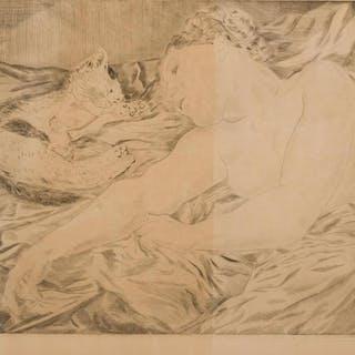 LÉONARD TSUGUHARU FOUJITA, French/Japanese (1886-1968), Femm
