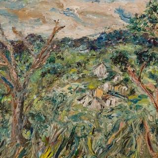 ALFRED GWYNNE MORANG, American (1901-1958), The Village, oil