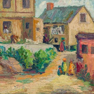 GEORGE ALAN SWANSON, American (1908-1968), Southern Scene, o