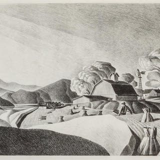 DALE NICHOLS, American (1904-1995), Golden Harvest, lithogra