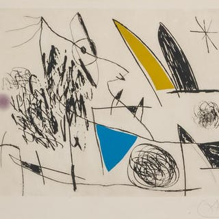 JOAN MIRO, Spanish (1893-1983), Plate VII from Serie Mallorc