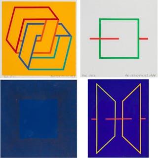 RICHARD ANUSZKIEWICZ, American (b. 1930), Squares Green and