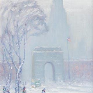 JOHANN BERTHELSEN, American (1883-1972), Washington Square