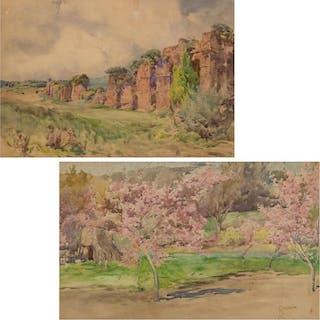 ONORATO CARLANDI, Italian (1848-1939), Roma and Tivoli (A Pa