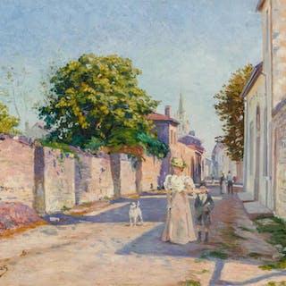 LEONCE J. V. DE JONCIERES, French (1871–1947), Afternoon Str