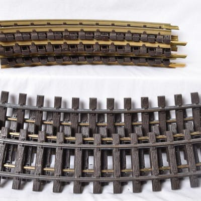 Nineteen LGB Curved Track. R1175 1600 and R600 1100