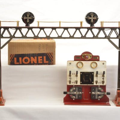 Lionel Prewar Std. Ga. 440 Signal Bridge and 440C Panel Boar