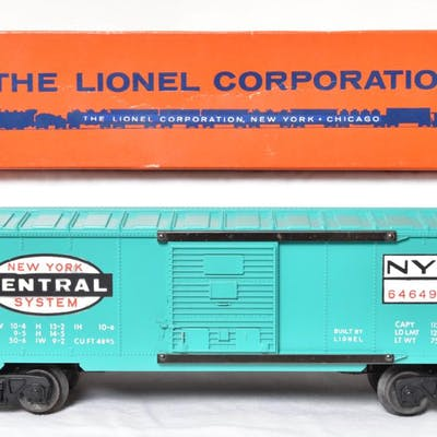 MINT LIONEL Postwar 6464-900 New York Central Boxcar with Or