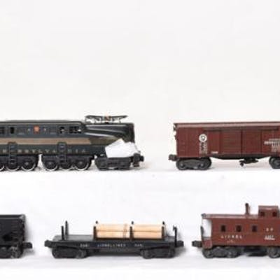 Lionel Postwar Freight Set No. 2139W - 2332 Pennsylvania GG1