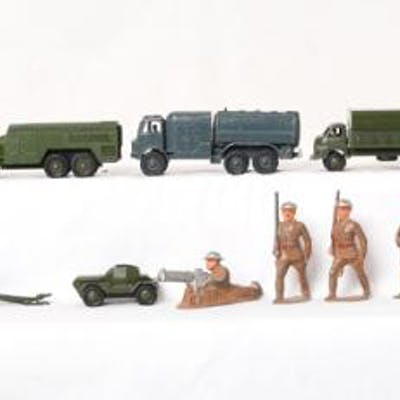 Group of Vehicles, including Dinky and Dime Store Cast Iron