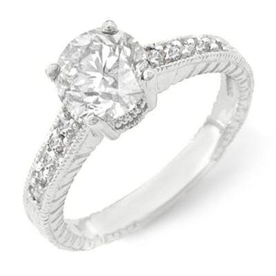 1.05 CTW VS/SI DIAMOND SOLITAIRE RING 14K WHITE GOLD - REF-1