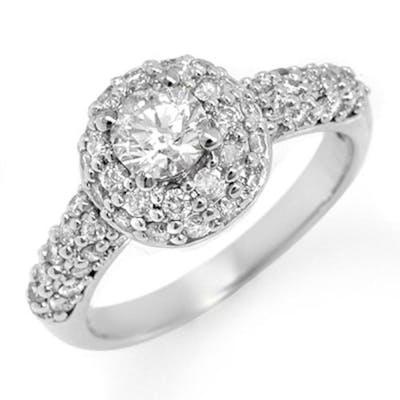 1.35 CTW VS/SI DIAMOND RING 14K WHITE GOLD - REF-127A8V - SK