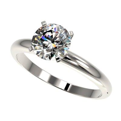 1.55 ctw H-SI/I Diamond Ring 10K White Gold - REF-330Y2X - S