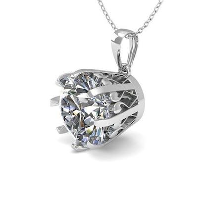 2 ctw VS/SI Diamond Solitaire Necklace 18K White Gold - REF-