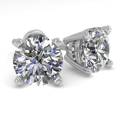 1.50 ctw VS/SI Diamond Stud Earrings 14K White Gold - REF-24