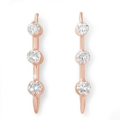 2.0 ctw VS/SI Diamond Earrings 14K Rose Gold - REF-207X6R -