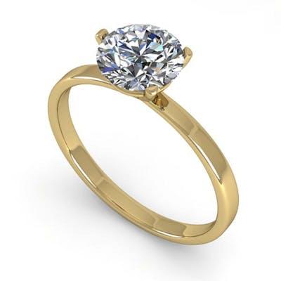 1.01 ctw VS/SI Diamond Ring 14K Yellow Gold - REF-315X2R - S