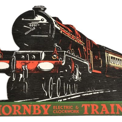 """Hornby O Gauge style Show Card measuring 14"""""""