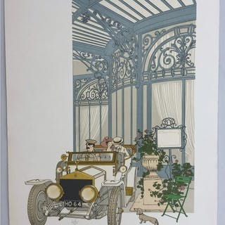 """No title"" Lithograph by Philippe Henri Noyer. 63,5 x 89 cm"