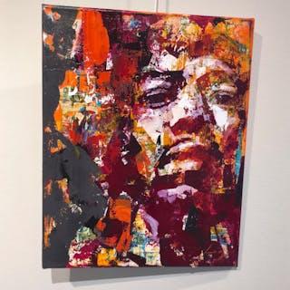 """""""Hendrix II"""" Acrylic on canvas by Alberto Ramirez LEG. 50x40 cm"""