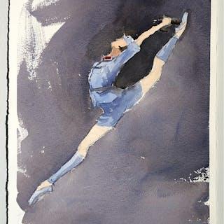 """Memories III"" Watercolor by John Ma. 38,5 x 57 cm"