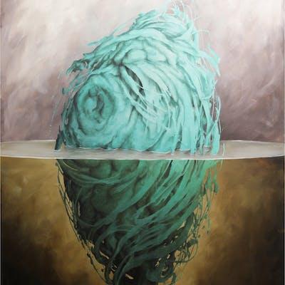 """Relations"" Acrylic on canvas by Jonas Brodin. 70x105 cm"