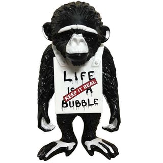 """Life is a bubble"" Streetmonkey by Diedrik van Apple"