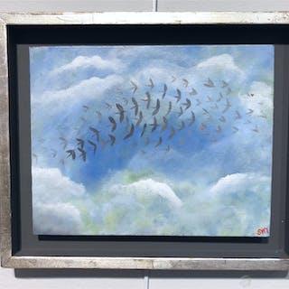 """""""Dream landscape II"""" Acrylic on panel by Stefan W. Igelström. 30x25 cm"""