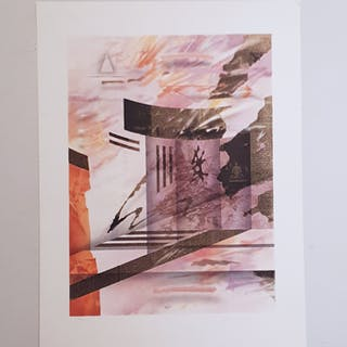 """No title"" Lithograph by Åke Ahlberg. 44x60 cm"