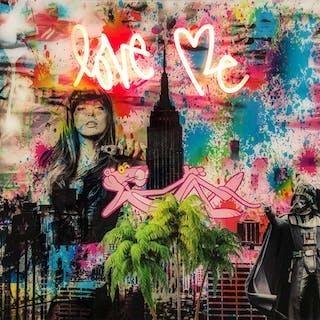 """""""Love Me"""" Mixed media av Diederik Van Apple"""
