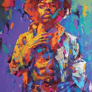 """""""Jimi Hendrix"""" Limited Edition Poster by LEG. 50x70 cm"""