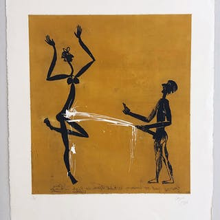 """""""No Title"""" Etching by Louis Cane. 57 x 70 cm"""