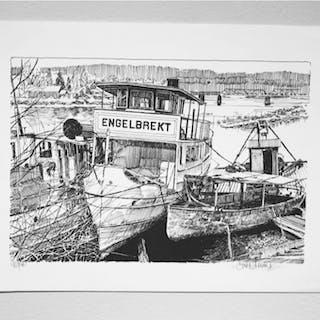 """""""Engelbrekt"""" Lithograph by Göran Hahne. 41,5 x 31,5"""