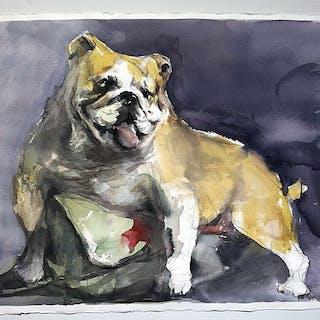 """Rich or POOR - No matter II"" Watercolor by John Ma. 76 x 57 cm"