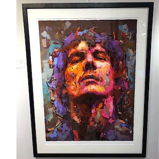 """Håkan Hellström"" - Art Giclée by Alberto Ramirez LEG. 100 x 125 cm. AAF"