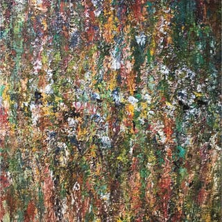 """""""Forest Love"""" Mixed media on canvas by Omid Ghorab. 100x130 cm """"Beautiful Mess"""""""