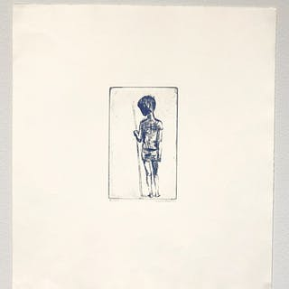 """""""No title"""" Etching by Louise Bastin. 35 x 38,5 cm"""