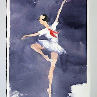 """Memories I"" Watercolor by John Ma. 38,5 x 57 cm"