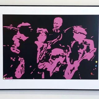 """The Rolling Stones, #10"" by Noe Eriksson. 80 x 60 cm"