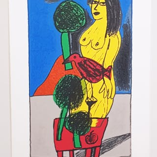 """No title"" Lithograph by Beverloo Corneille. 43x68 cm"