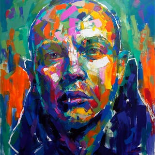 """Petter Alexis"" Acrylic on canvas by Alberto Ramirez LEG. 150 x 140 cm. AAF"