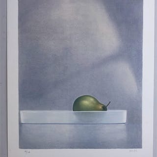 """Pear"" Lithograph by Peter Frie. 63 x 79 cm"