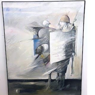 """""""No title"""" Oil on canvas by Sven-Erik Johansson. 160 x 130 cm"""