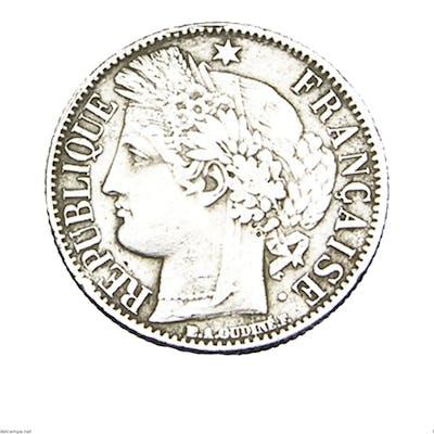 1 Franc - Type Cérès - France - 1850 BB - Strasbourg - TB - rare