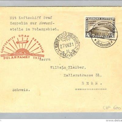 DR 1931-07-24 Zeppelin Polarfahrt Abwurf Malyguin Mi458