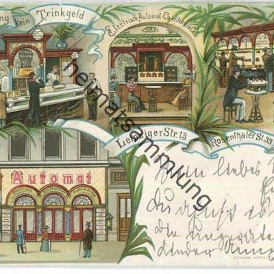 Berlin - Electrisch-Automat-Conditorei & Cafe - Leipzigerstr. 13 Rosenthalerstr.