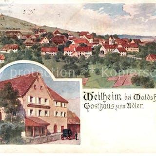 33149328 Weilheim Waldshut Gasthaus zum Adler Kuenstlerkarte L. Zorn  Weilheim