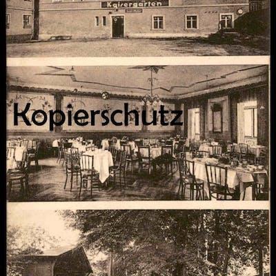 ALTE POSTKARTE KAISERGARTEN BES. JOSEF MÜLLER WOHLAU Schlesien Wolow