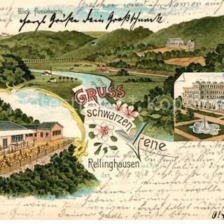 33148637 Rellinghausen Villa Huegel Litho  Rellinghausen