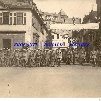 cp 55 DIEZ: Fête du 11 juin 1919 du 114è reg d´infanterie ( drapeau